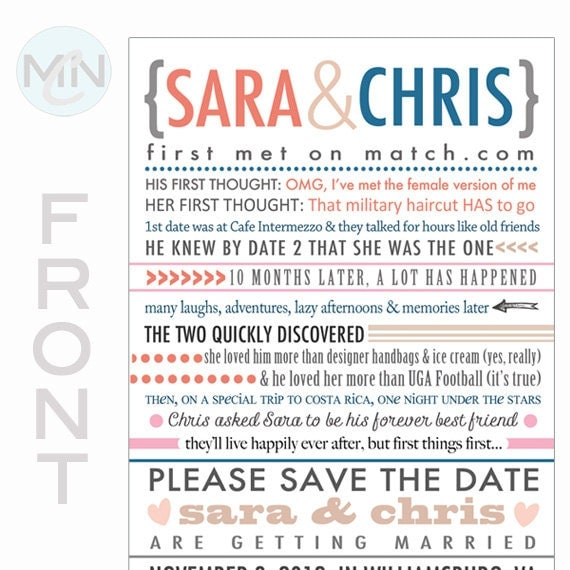 Our Love Story . Save the Date . Wedding Invite . Table Setting