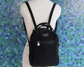 Vintage Black Esprit Faux Suede Backpack 1990s