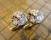 Omega 650 Watch Movement Cufflinks. Great for Fathers Day, Anniversary, Groomsmen or Just Because.  #106