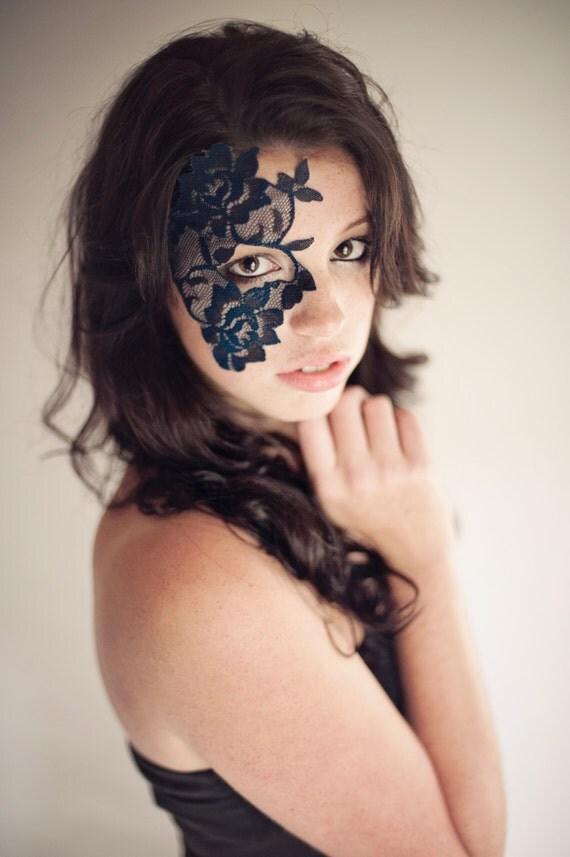 Mask - Navy Blue Lace Mask - Mardi Gras Mask - Womens Costume ...: https://www.etsy.com/listing/156710785/strapless-lace-mask-elegant...