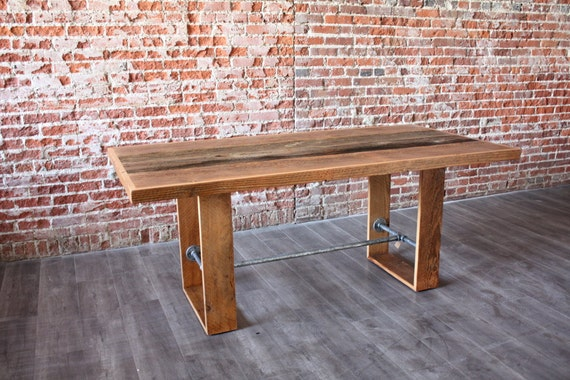 Rustic Modern Dining Table Industrial Table Reclaimed Barn Wood