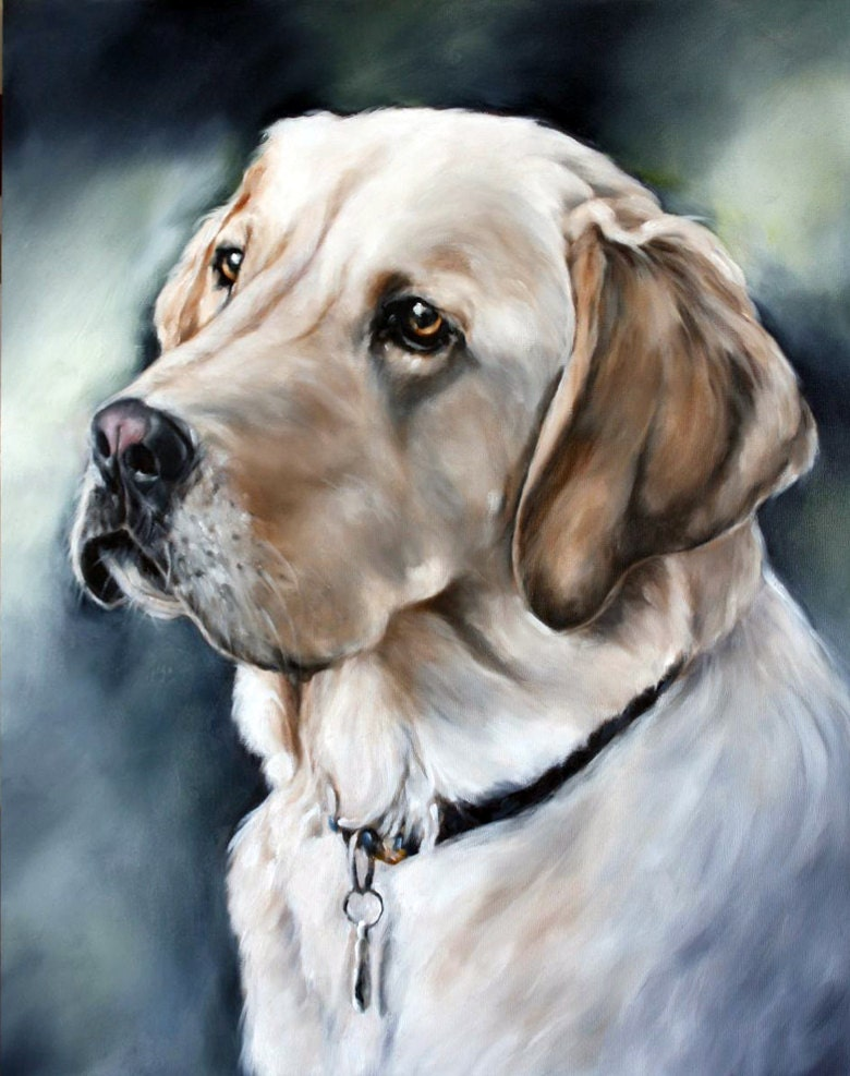 Commission portrait custom pet portrait animal art custom for Painting of your dog