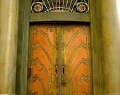 Prague Door Photo Collection - Orange Gold Art Deco 13cm x 18cm (5in x 7in)unframed