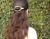 Hair barrette, slider, antler, hair stick, shawl pin, barrette, scarf pin, deer antler, Tribal, natural hair accessory, handmade, MariyaArts