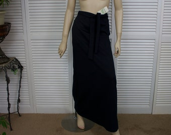 Vintage Long Black Skirt 1970s New Old Stock with Tags