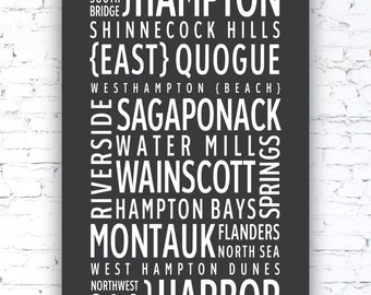 THE HAMPTONS - Typography poster print
