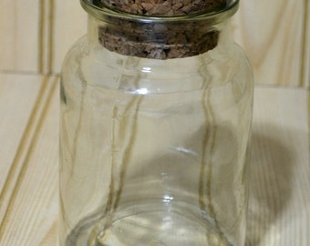 Vintage Corked Jar Apothecary Storage Bottle
