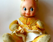 Vintage Stuffed Doll, Rubber Face, A Gund Creation