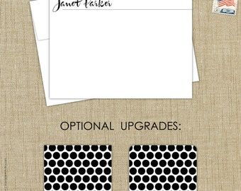 handwritten name personalized stationery. set of 15