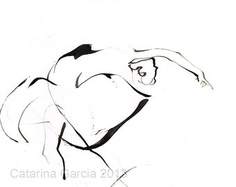 Ballet Dance Drawing Print
