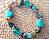 Abalone Bracelet with toggle clasp