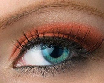 "Matte Red Eyeshadow - ""Poppy"" - Warm Tomato Red Vegan Mineral Eyeshadow Net Wt 2g Large"