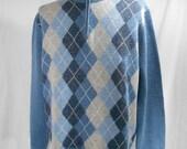 vintage J.CREW men's argyle sweater / size xl