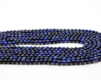 """GUB-10358-1 - Lapis Lazuli Round Beads - 2mm - Natural Gemstone Beads - 16"""" Strand"""
