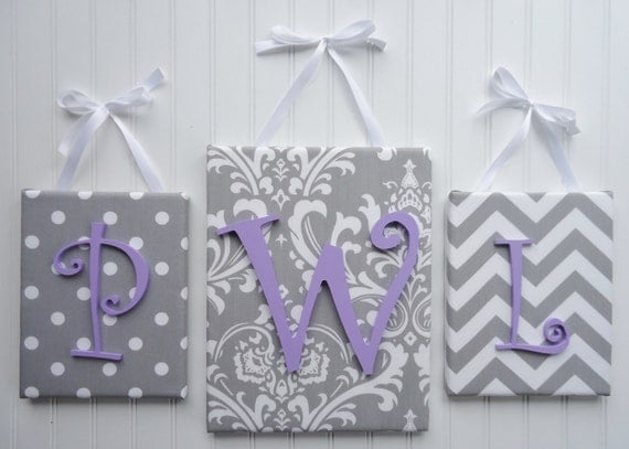Items Similar To Nursery Wall Letters Monogram Nursery Decor Upholstered L