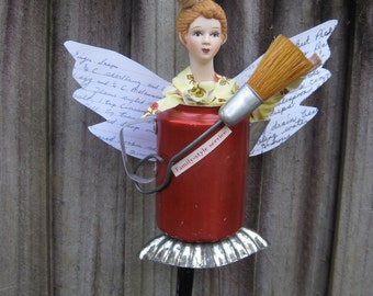 The Kitchen Protector Art doll Assemblage
