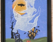 Handpainted Halloween Canvas-8x10