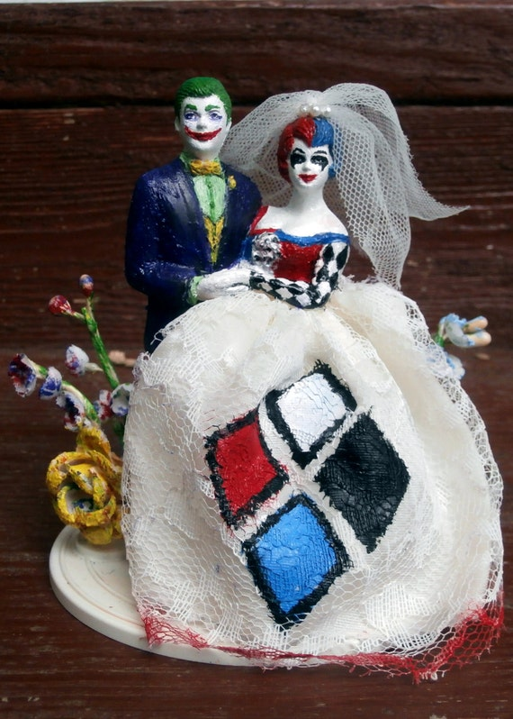 joker and harley quinn wedding cake topper joker and harley quinn wedding cake topper 16608