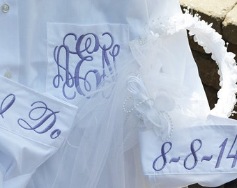 FAST SHIPPING! Brides Shirt, Wedding Day Shirts, Monogram Wedding Shirts, Monogram Bridal Shirt, Bridal Party Shirts, Monogram Button Down