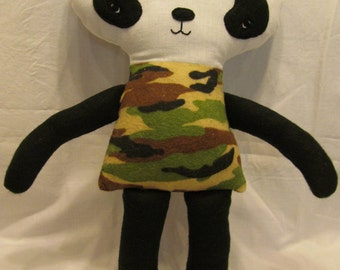 Camouflage Panda Bear doll, toy, soft and cuddley