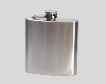 Stainless Steel Hip Flask  6oz 2oz 1oz 4oz