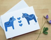 Swedish Dala Horse Notecard (Blank)