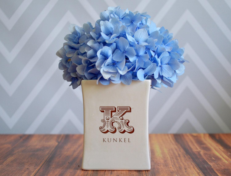 Personalised Vase Wedding Gift : Personalized Vase Housewarming gift wedding gift or Client