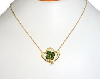 Antique 1890s Shamrock Necklace