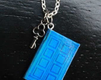 Journal of River Song Dr. Who Mini Book Necklace
