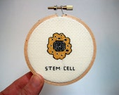 Stem Cell  - cross stitch, needlework for scientists and other cool people