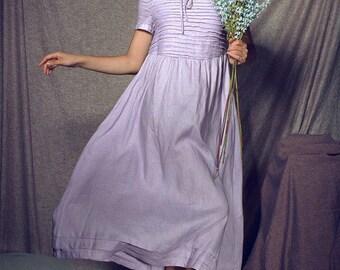 linen dress in violet and chocolate, maxi dress, flared dress, long linen dress, evening dress, formal dress, maxi tunic dress, kaftan