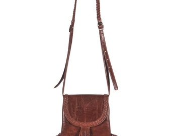 SAHARA. Hippie bag with tassel / hippie bag boho / gypsy fringe leather / cross body purse / bohemian. Available in different leather colors