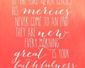 Lamentations 3:22-23 {Great is Your Faithfulness}