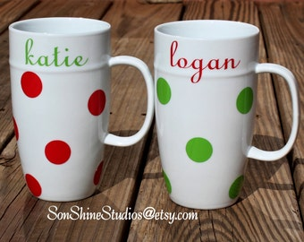 Christmas Polka Dot Mug Gift Set