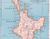 Vtg New Zealand Map or Solar System Diagram, 1947