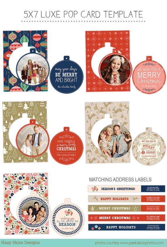 Christmas Card Templates For Photographers Items similar to Luxe ...