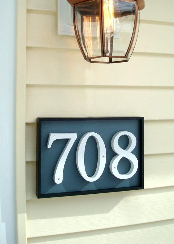 Gardenmarx address plaques for your front door or by for Front door number plaques