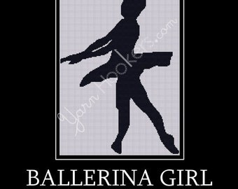 Ballerina Girl - Afghan Crochet Graph Pattern Chart - Instant Download