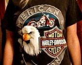 American Iron Vintage Harley Davidson Motorcycles T-shirt Size Small