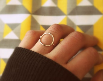 Full Circle Ring//Argentium Sterling Silver//Handcrafted