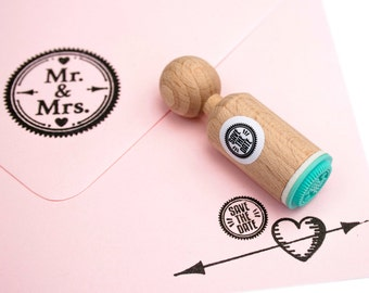 Save The Date mini Stamp with mint rubber