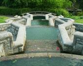Garden Water Fountain at Maymont Park in Richmond Va, 8x10 Photo Art, Frame Available