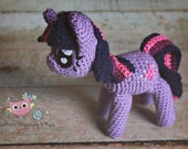 Made to order Crochet Twilight Sparkle inspired doll