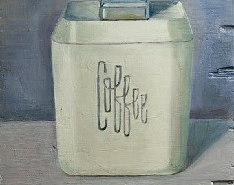 Coffee, open edition print of oil painting, retro, kitchen