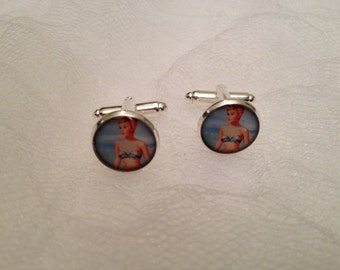 Vintage Pin Up Girl Cufflinks