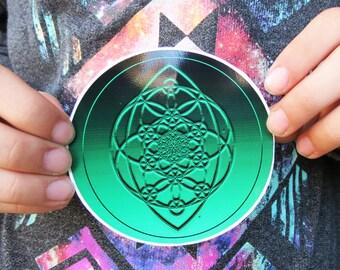 Amanda's Mandala Art Flower of Life Seed of Life Tree of Life High Quality Vinyl Sticker