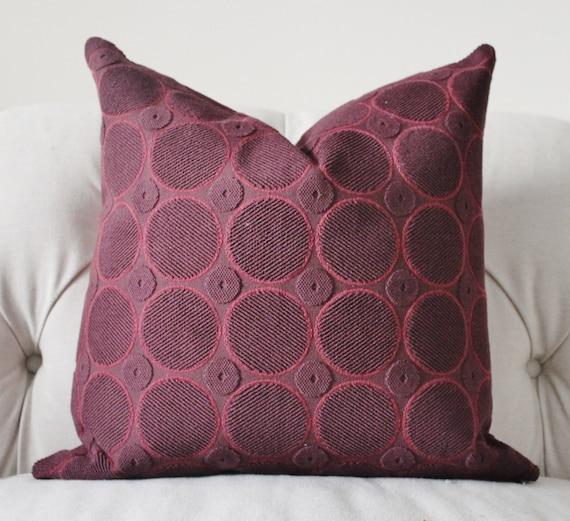 Throw Pillows Printing : Decorative Designer Purple Pillow Plum Purple Aubergine