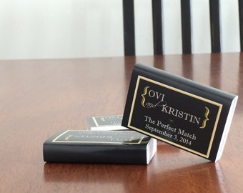 80 Custom Designed Matchbox Wedding Favors