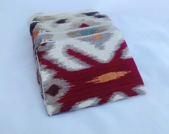 Ikat Zipper Coin Purse Wallet Gift Card Holder
