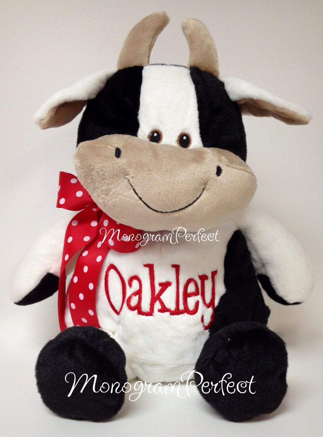 Personalized Cow Stuffed Animal Soft Toy Pillow By